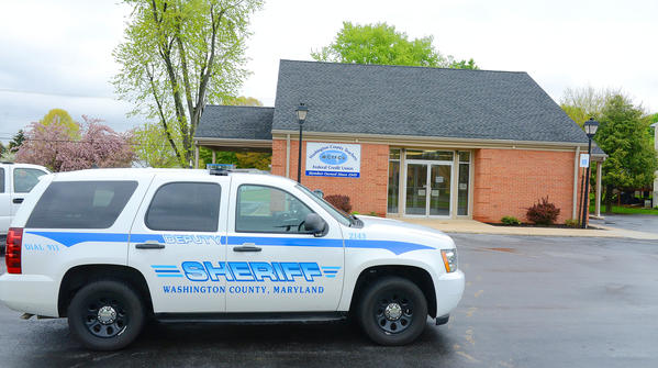 A robbery was reported at the Washington County Teachers Federal Credit Union on Virginia Ave on Monday afternoon