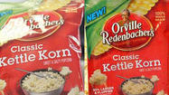 A major food company has issued a recall for kettle korn for failing to label milk on the packaging.