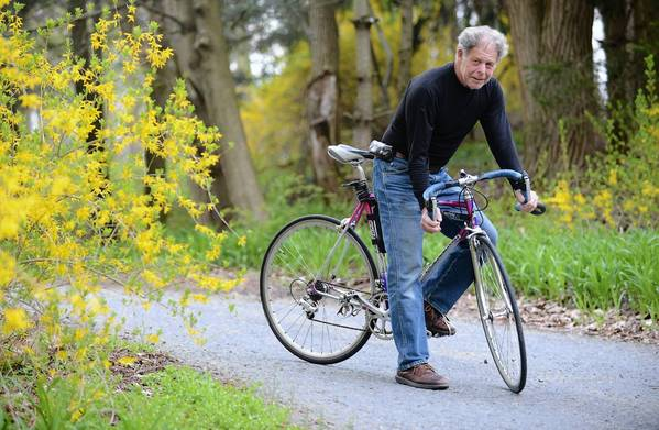 At the age of 71, Peter Karch of Kutztown plans to ride 4,000 miles solo from California to Virginia..