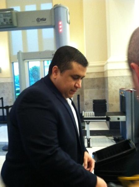 George Zimmerman enters the Sanford courthouse for a hearing on April 30, 2013.