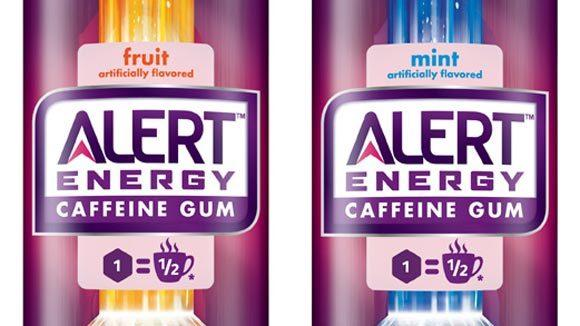 Packages of Alert Energy caffeine gum.