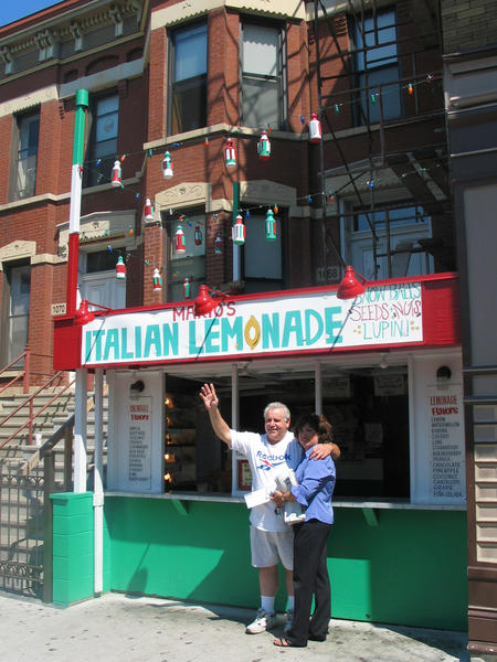 Take a stroll down Taylor Street in Little Italy with a cup of lemon ice from Mario's Italian Lemonade (1068 W. Taylor St.) in hand.--Lisa Arnett