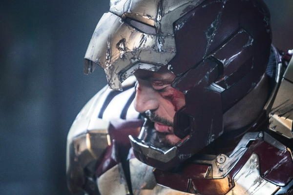 "Robert Downey Jr. as Tony Stark in ""Iron Man 3."""