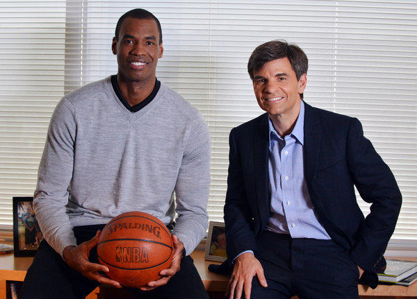 "NBA center Jason Collins spoke with George Stephanopoulos on ""Good Morning America"" on Tuesday about his decision to reveal to the public that he is a gay man."