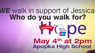 To support traffic reporter Jessica Sanchez in her cancer battle, WKMG-Channel 6 is teaming with the American Cancer Society to present the Relay for Life of Apopka.