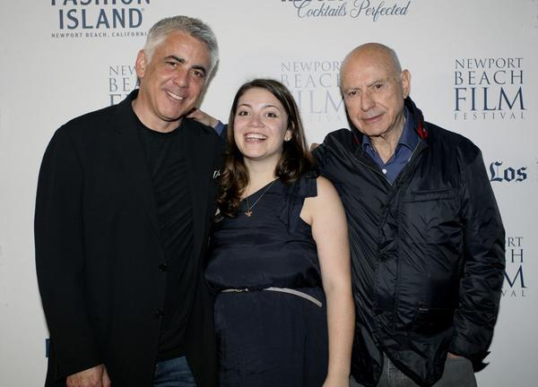 "Adam, Molly and Alan Arkin at the Newport Beach Film Festival premiere of ""In Security."""