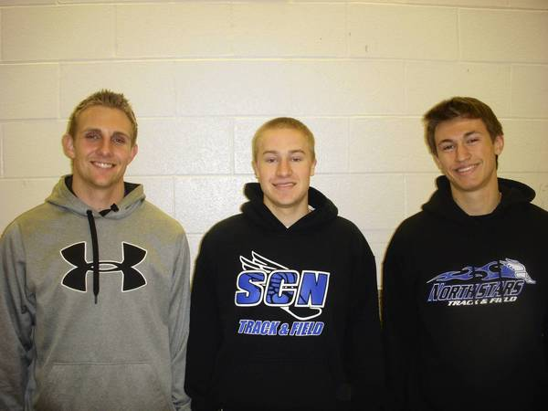 Connor Larson (far left), Zach Kirby (middle) and Josh Phelan (far right