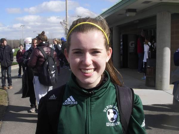 Plainfield's sophomore midfielder Maddie Conroy