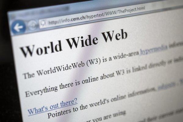 A copy of the world's first Web page.