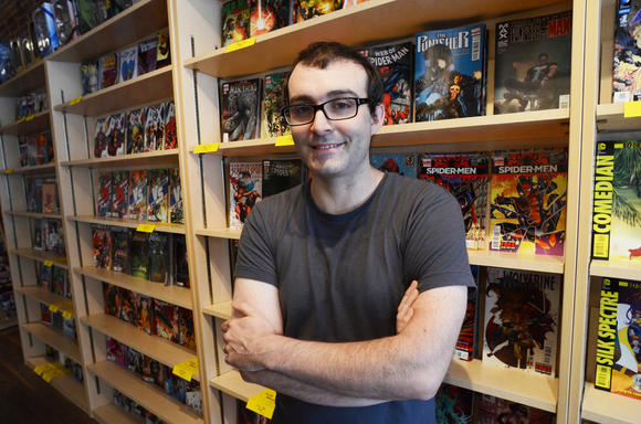 Ian Sayre, owner of Gorilla King Comics in Fells Point.