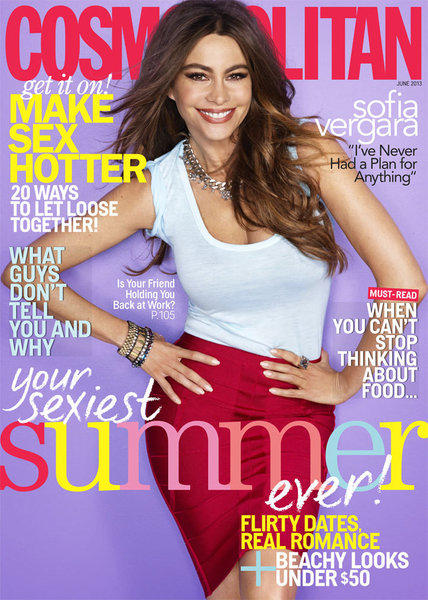 Sofia Vergara talks wedding plans, sex kitten status and expanding her family in the June 2013 issue of Cosmo.