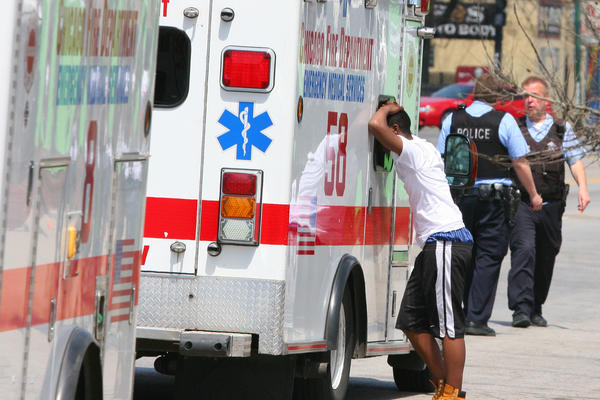 Two children and one adult were seriously injured today after being hit by a car on the 6000 block of South Western Avenue according to Fire Media information.