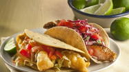 For certain foods — wings, dogs, spicy eats or, as here, fish tacos — the default beverage is beer, by wide acclaim. A cold one refreshes and cleanses the palate. For those foods, beer's pretty much all about the scrubbing bubbles.