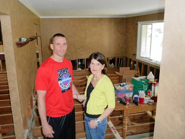 Jerry and Tracy Roberts' basement and first floor flooded during April rains.