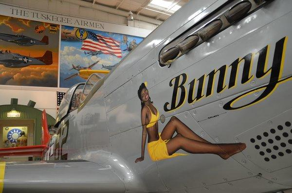 In a territory better known for low-slung homes and sparkling pools, the Palm Springs Air Museum focuses on aircraft of World War II. Many of its planes, including this one, have been repainted by 21st-century volunteers.