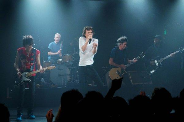 The Rolling Stones performing at the Echoplex in Echo Park on Saturday.