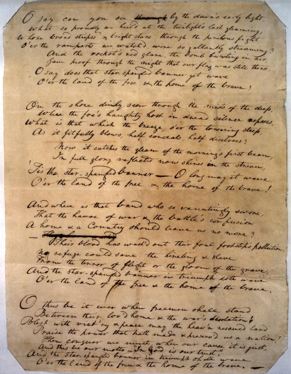 Francis Scott Key's handwriting