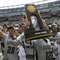 Loyola NCAA men's lacrosse championship trophy