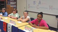 "Fifth-graders at Salem Avenue Elementary participated in the ""We the People: The Citizen and the Constitution"" simulated Congressional hearings April 25."