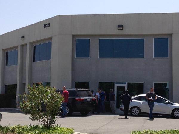 FBI agents conduct a search at the corporate offices of developer Highland Fairview as part of a Moreno Valley corruption investigation.