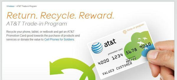 AT&T is offering at least $100 for smartphones in good condition that are less than 3 years old.