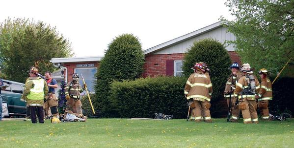 Fire crews responded to a house fire Tuesday at 8778 Stottlemyer Road near Waynesboro, Pa.