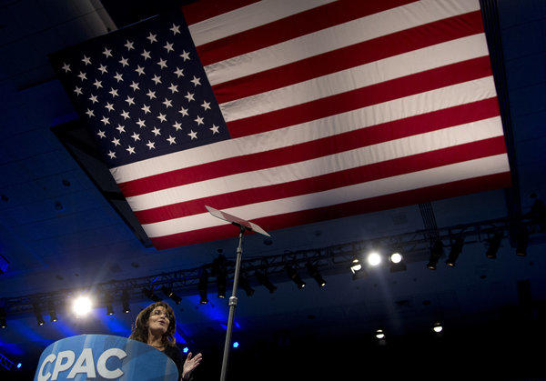 Sarah Palin speaks at the 40th annual Conservative Political Action Conference. Some tea party activists want her to run for a U.S. Senate seat in Alaska.