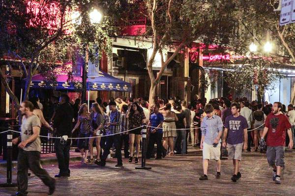 The downtown club scene in Orlando as the clubs let out on a Saturday night in August 2012.