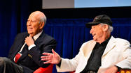 "Mel Brooks and <a href=""http://projects.latimes.com/hollywood/star-walk/carl-reiner/"">Carl Reiner</a>, joined in comedy history as the 2,000-year-old man and his interviewer, and joined at the hip in life, made a tandem, two-headed appearance Monday afternoon at the Paley Center for Media in Beverly Hills. With Judd Apatow as moderating host, it was the inaugural event in #Comedyfest, a collaboration between Twitter and Comedy Central that will continue through Friday and includes the premiere of the new series ""Inside Amy Schumer"" (Tuesday at 10:30 p.m. ET, with star Schumer live-tweeting), ""Writer's Room: A Panel"" (Thursday, 6 p.m. ET) and ""The Comedy Central 'Half Hour' Daytime Drinking Game"" (Wednesday, 4 p.m. ET)."