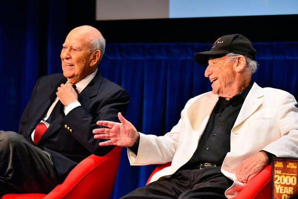 Carl Reiner, left, and Mel Brooks kick off #Comedyfest on Monday at the Paley Center for Media in Beverly Hills.
