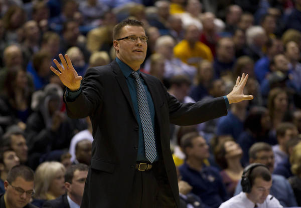 Green Bay coach Brian Wardle during the first half against Marquette at the Bradley Center.