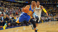 DENVER -- Andre Iguodala had 25 points, 12 rebounds and seven assists, and the Denver Nuggets survived a late rally to beat the Golden State Warriors 107-100 Tuesday to stay alive in the Western Conference quarterfinals.