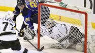 ST. LOUIS -- A double-minor penalty in overtime of an NHL playoff game normally would be hard to overcome, but it didn't take the St. Louis Blues long to do just that Tuesday night in the opening game of their series against the Los Angeles Kings.