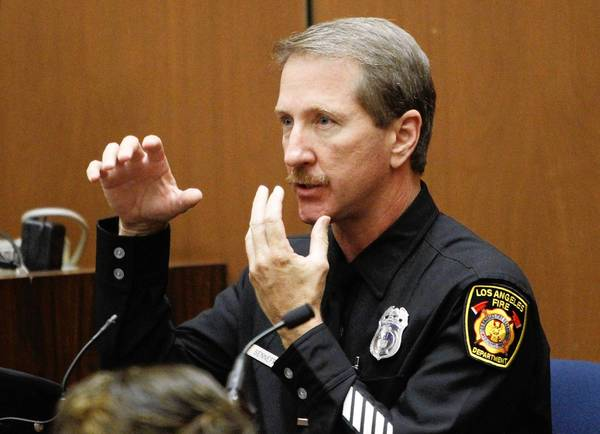 Paramedic Richard Senneff, shown in a file photo, was the first witness for the plaintiffs in the wrongful-death suit against entertainment giant AEG brought by Michael Jackson's mother and three children.
