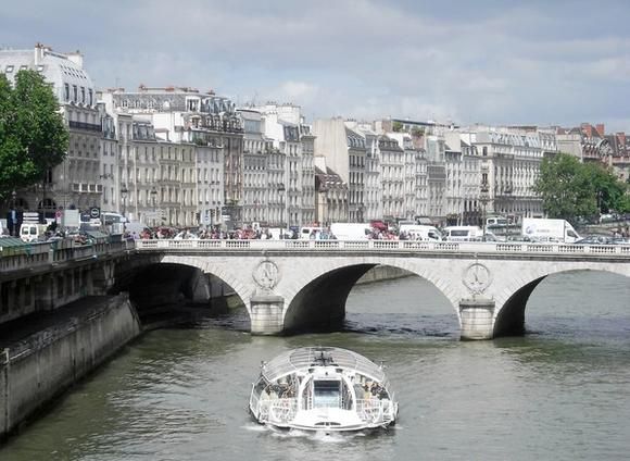 The Seine River is one of the dominant features in Paris, France. There are 26 bridges over the Seine.