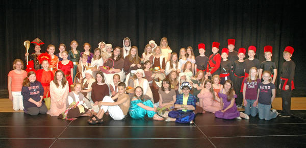 """The Boyne City Middle School drama department will present """"Aladdin Jr."""" at 7 p.m. Thursday and Friday, May 2-3, and 2 p.m. on Saturday, May 4, at the Boyne City High School Performing Arts Center."""