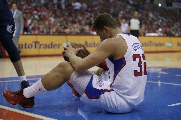 Blake Griffin played in less than half of Game 5 against the Memphis Grizzlies.