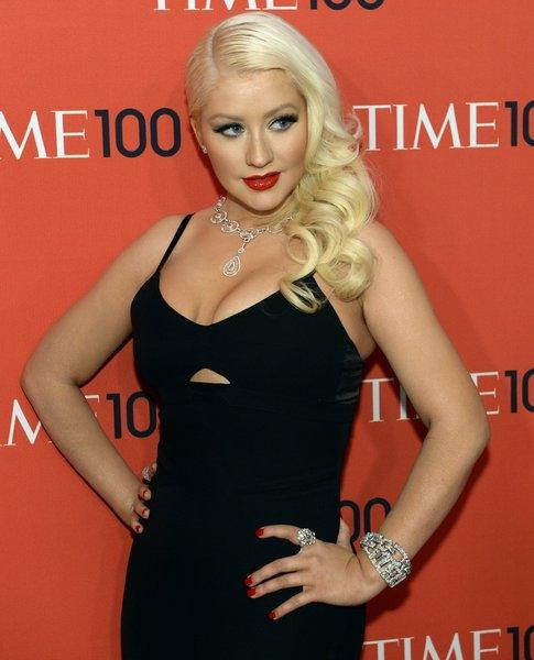 Christina Aguilera attends the gala celebrating Time magazine's 100 most influential people in the world at Lincoln Center in New York City.