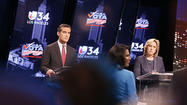 "Mayoral rivals Wendy Greuel and Eric Garcetti <a href=""http://www.latimes.com/news/local/la-me-0430-mayor-daily-20130430,0,1648647.story"">clashed</a> over outside spending in the race in a debate Monday. Garcetti attacked Greuel for not agreeing to sign a pledge that would have required the candidates to give charities the equivalent of half the money spent on their behalf by independent groups. Greuel countered by arguing that Garcetti would not be as critical if he had received major union backing, and noting that Garcetti also has benefited from independent spending by his supporters."