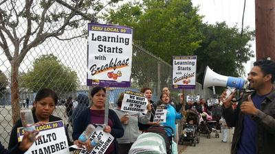 Parents rally to save classroom breakfasts
