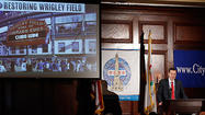 Chicago Cubs Chairman Tom Ricketts addresses the City Club of Chicago today. Ricketts provided details of his family's proposed $500 million investment in Wrigley Field and the Wrigleyville neighborhood. (Jose M. Osorio, Chicago Tribune)
