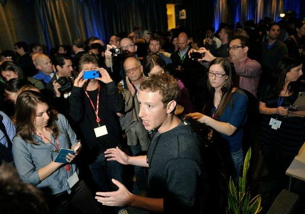 Facebook Chief Executive Mark Zuckerberg speaks at a media event at Facebook headquarters in Menlo Park, Calif., in April.