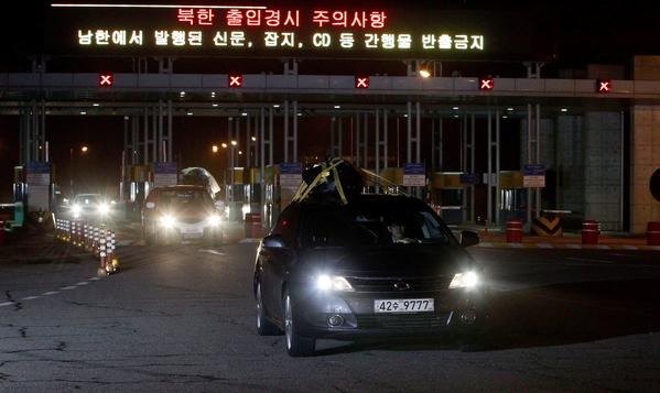 The only civilian traffic across the heavily fortified divide between North Korea and South Korea in recent weeks has been South Korean workers departing the Kaesong industrial complex, a joint production facility shuttered by Pyongyang amid the seething tension stirred by U.S.-South Korean war games and North Korean threats to launch nuclear missiles.