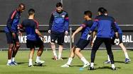 BARCELONA (Reuters) - Barcelona forward Lionel Messi was left out of the starting lineup for Wednesday's Champions League semi-final second leg at home to Bayern Munich, the La Liga club said.