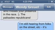 Texts in mayoral campaign