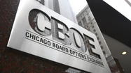 Trading on the Chicago Board Options Exchange fell 6 percent to a daily average of 4.01 million contracts in April.