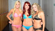 The Philadelphia Eagles cheerleaders will photograph the 2013 edition of their swimsuit calendar in New Jersey to support revitalization efforts in the aftermath of Hurricane Sandy