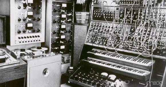 An early invention of Robert Moog, the Moog synthesizer