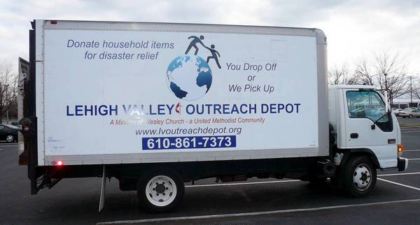 This 16-foot box truck, purchased with $15,000 in grant money, has made it much easier for Outreach Depot volunteers to pick up donated furniture and other items.
