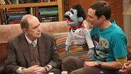 "Bob Newhart guest stars on ""The Big Bang Theory."" With Jim Parsons, right."